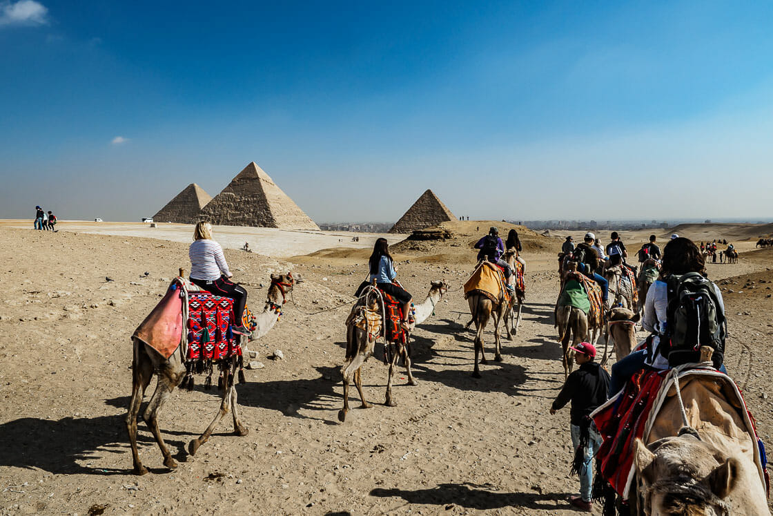 Camel Ride Giza Pyramids - Cairo - Egypt