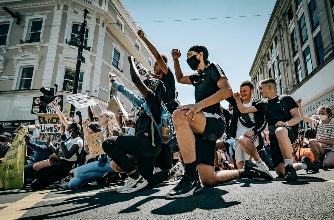 Taking the Knee - BLM - Black Lives Matter - Brighton Protest - 13.06.20