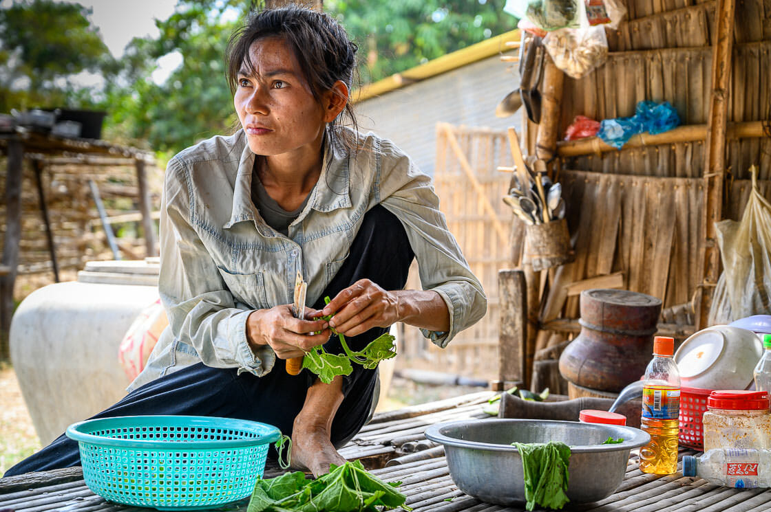 Wistfully Preparing Lunch - Andong Russey Pottery Village Family - Cambodia